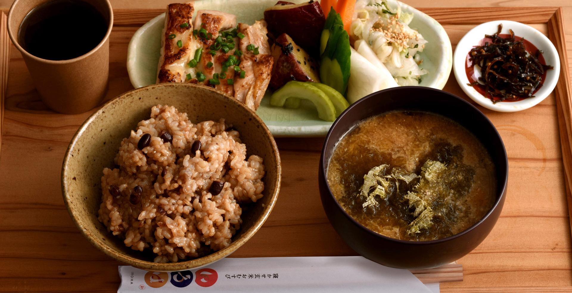 玄米 いろは 寝かせ 玄米おにぎり店「いろは 渋谷ヒカリエ」